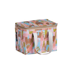 Insulated lunch box bag in Summer Forest by Leah Bartholemew Print
