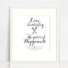 Love is the master key personalised print