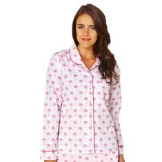 Palm Sunday pink women's long sleeve shirt