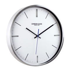 London Clock Company Vantage Silwnt Sweep Metal Wall Clock