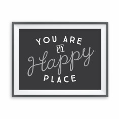 Happy place print