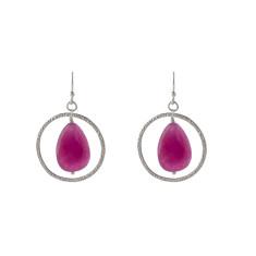 Pink lady earrings