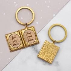 Personalised Storybook Locket Keyring