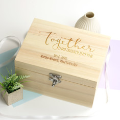 Personalised Together Keepsake Box
