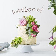 Wire Awesome Cake Topper
