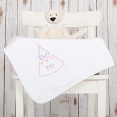 Personalised Teepee Baby Blanket