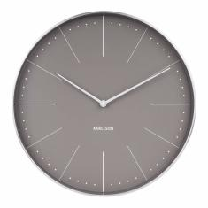 Wall Clock Normann in Warm Grey