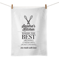 Where the best food is made personalised tea towel