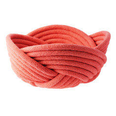 Weave bowl in coral