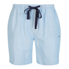 Men's Cloud Blue Linen Sleep Shorts