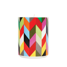 French Bull soy candle in ziggy pattern