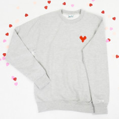 I Love You Embroidered Personalised Unisex Sweatshirt