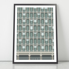 New York Facades - 330 East 33rd Street giclee art print