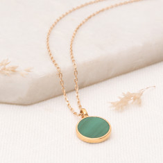 Personalised Malachite Pendant Necklace