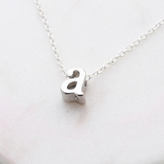 Personalised Initial necklace in rose gold or silver