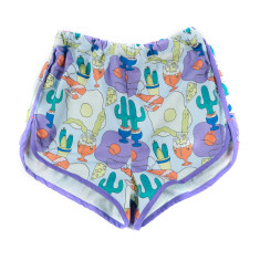 Mexican Egg Print Shorts