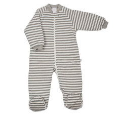 Buggy bag baby sleeping bag 3.0 tog in grey & white stripe