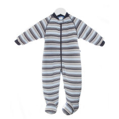 Buggy bag baby sleeping bag 3.0 tog in blue multi stripe