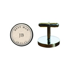 Best man monogram cufflinks