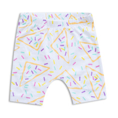 Organic fairy bread drop crutch shorts