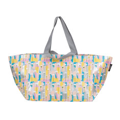 Pastel Poppies by Leah Bartholemew Print Beach Bag