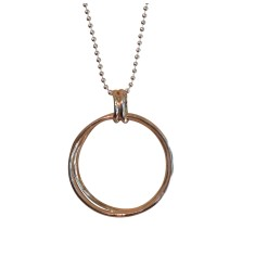 Rose Gold Triple Circle on ball chain