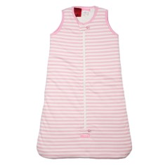 Sleeveless 2.5 tog baby sleeping bag in pink