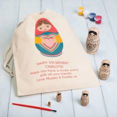 Personalised Paint Your Own Russian Dolls For Children