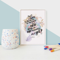 Anne Of Green Gables No Mistakes Quote Framed Mini Print