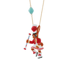 Cheerleader Rabbit Necklace