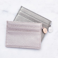 Personalised Metallic Card Holder