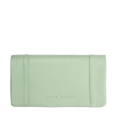 Some Type of Love leather wallet in mint green