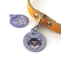 Cat ID Tag Personalised Name Tag