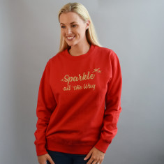 Sparkle All The Way Glitter Unisex Sweatshirt Jumper