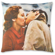Sweethearts linen cushion cover