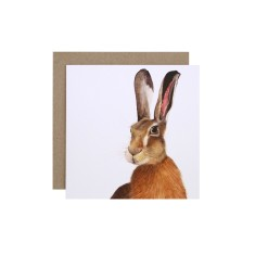 Hare greeting card (pack of 5)