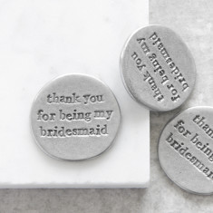 Thank You For Being My Bridesmaid Pocket Coin