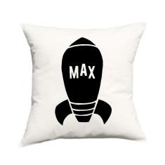 Space ship personalised cushion cover (various colours)
