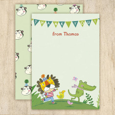Personalised jungle thank you cards (set of 8)