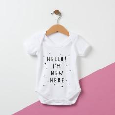 Hello, I'm New Here Baby Bodysuit