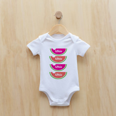 Personalised watermelon bodysuit