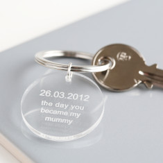 Day You Became My Mummy/Daddy Acrylic Keyring