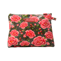 Large cosmetic, clutch or nappy bag in Alexandra Donkey print