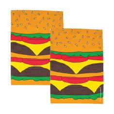 Woouf Kitchen Tea Towel Burger (pack of 2)