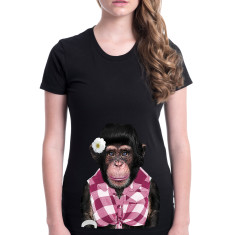 Female Monkey women's fitted tee