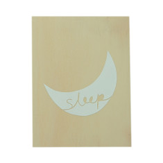 Sleep plywood screenprint