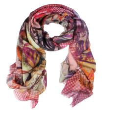 Digi Digital Print Wool Silk Scarf