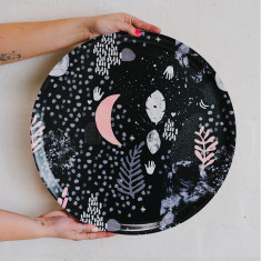 Night love birch platter