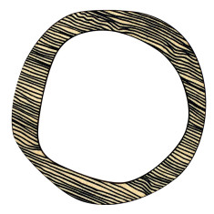 Black thin lines reversible bangle