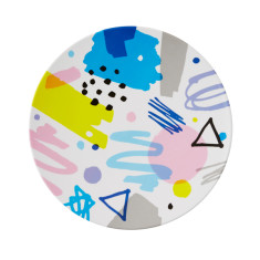Melamine scribble round platter